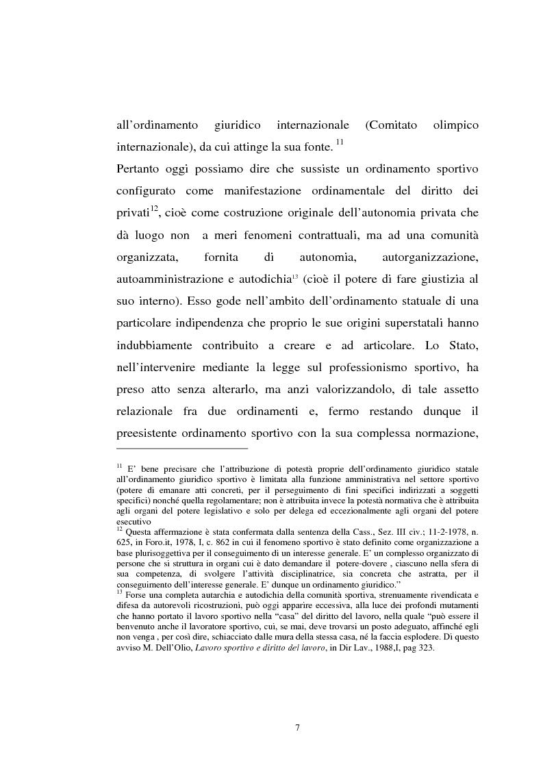 Anteprima della tesi: La tutela previdenziale del lavoro sportivo, Pagina 6
