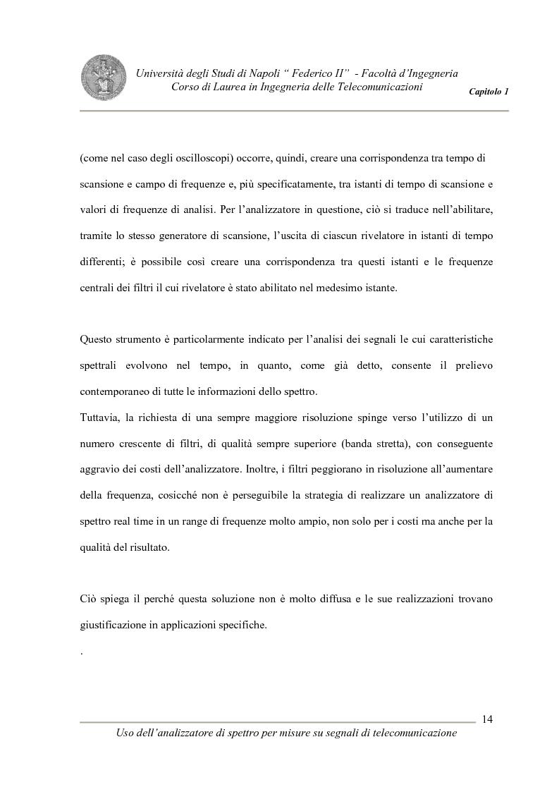 Anteprima della tesi: Uso degli analizzatori di spettro per misure su segnali di telecomunicazione, Pagina 14