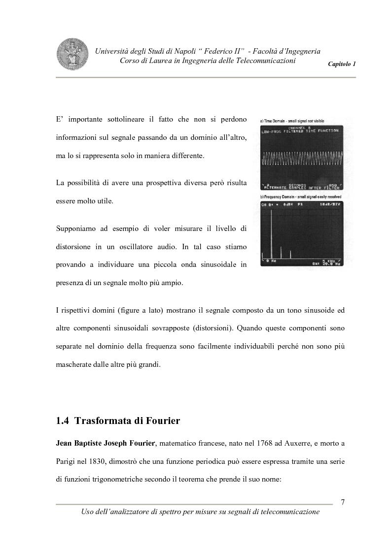 Anteprima della tesi: Uso degli analizzatori di spettro per misure su segnali di telecomunicazione, Pagina 7