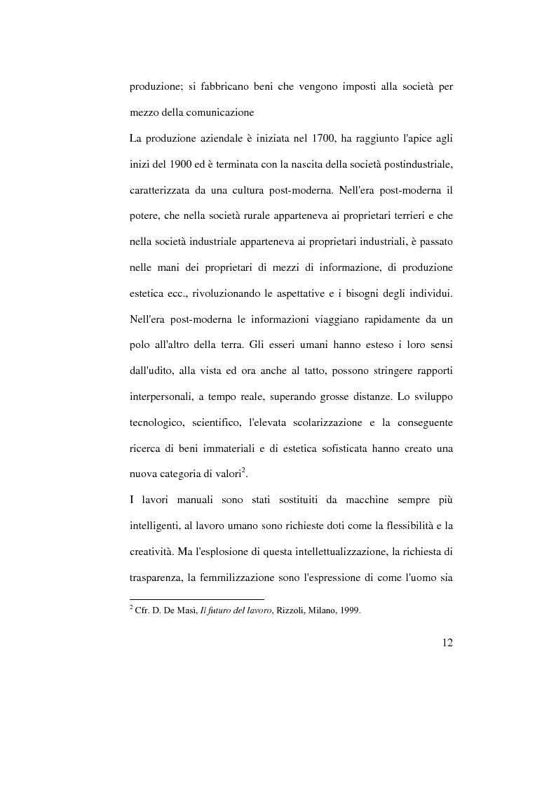 Anteprima della tesi: Organizzazione del lavoro e gestione delle risorse umane: il caso Hard Rock Cafe, Pagina 9