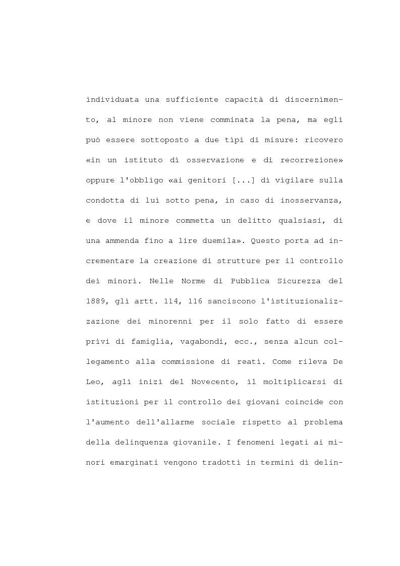 Anteprima della tesi: La devianza minorile. L'istituto di osservazione maschile per i minorenni di Firenze negli anni 1955-77, Pagina 11