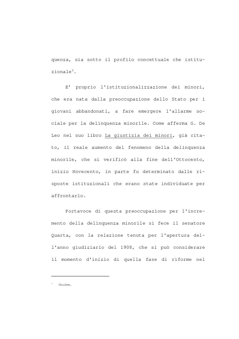 Anteprima della tesi: La devianza minorile. L'istituto di osservazione maschile per i minorenni di Firenze negli anni 1955-77, Pagina 12