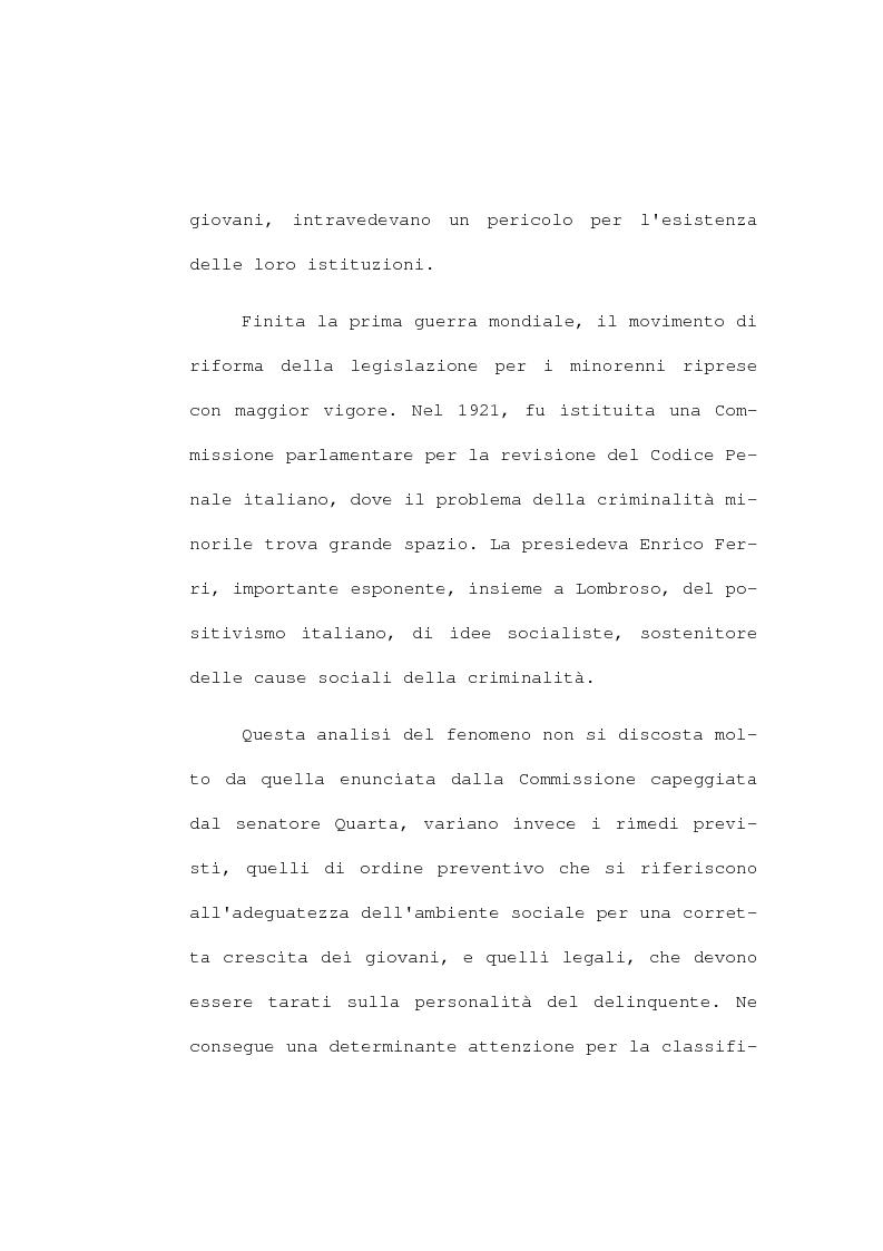 Anteprima della tesi: La devianza minorile. L'istituto di osservazione maschile per i minorenni di Firenze negli anni 1955-77, Pagina 15