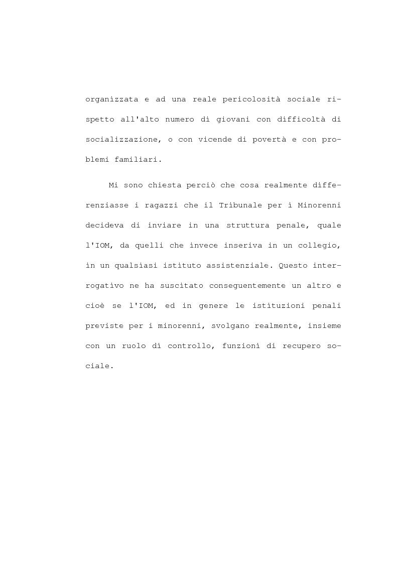 Anteprima della tesi: La devianza minorile. L'istituto di osservazione maschile per i minorenni di Firenze negli anni 1955-77, Pagina 5