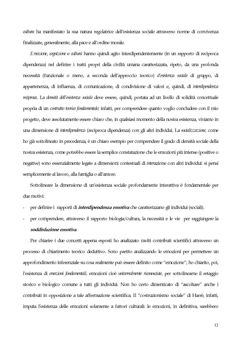 Anteprima della tesi: Interdipendenza emotiva: per una prospettiva cognitiva sulle emozioni, Pagina 10