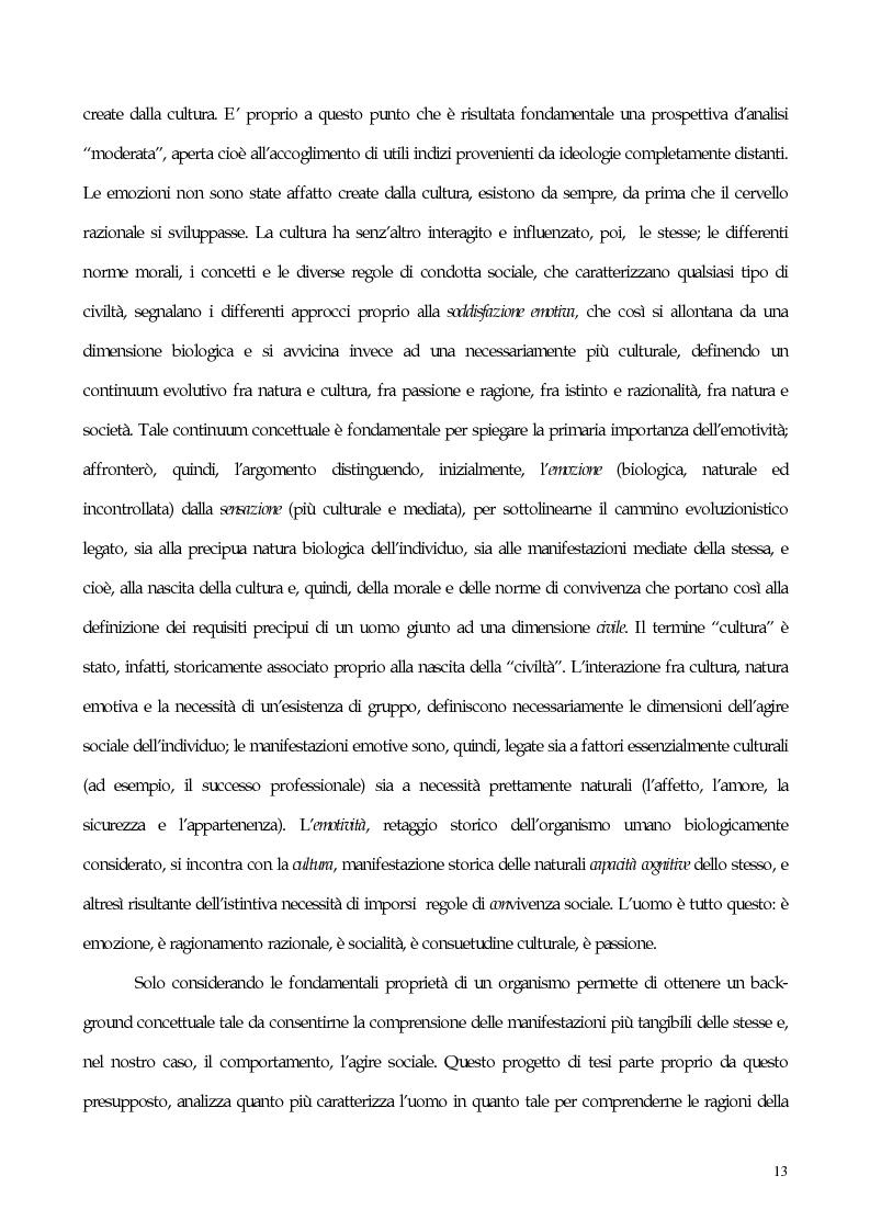 Anteprima della tesi: Interdipendenza emotiva: per una prospettiva cognitiva sulle emozioni, Pagina 11