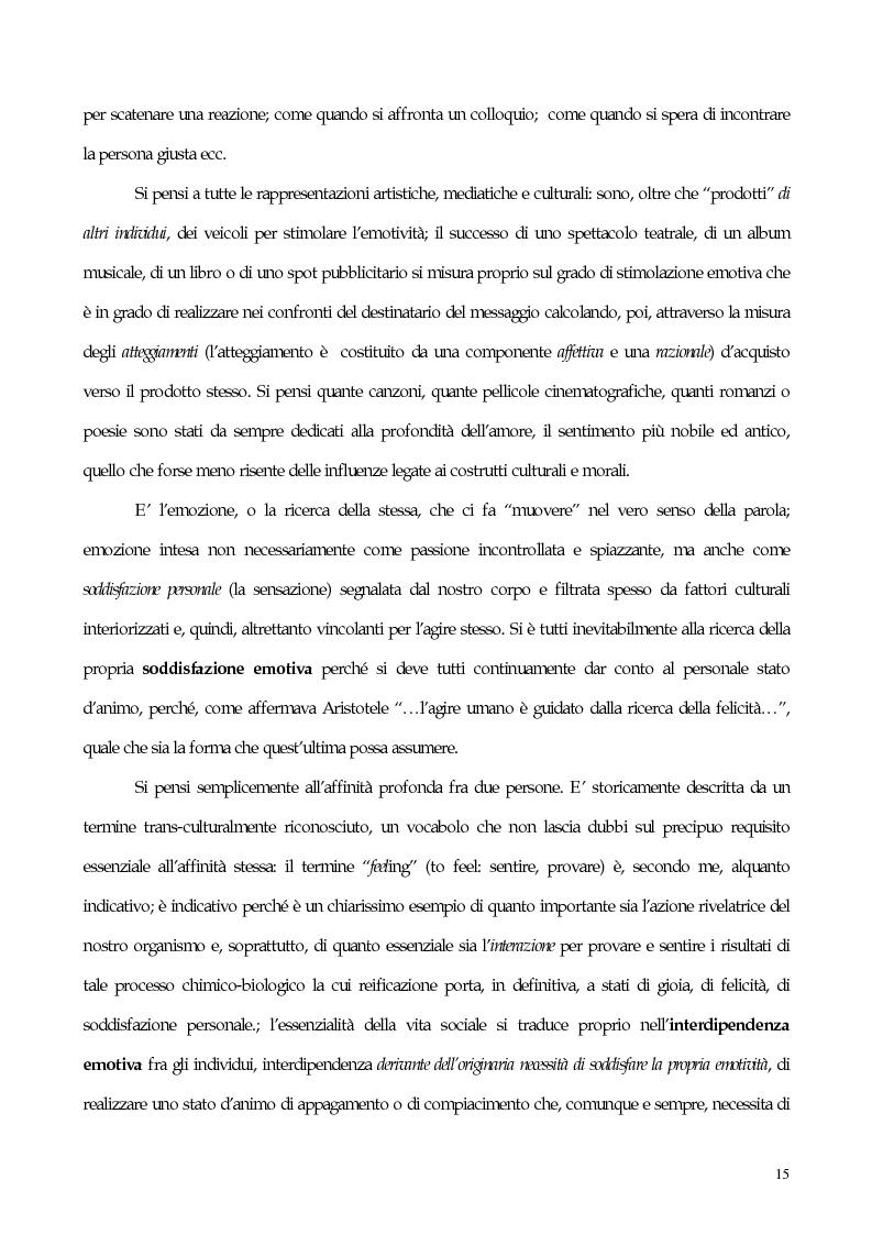 Anteprima della tesi: Interdipendenza emotiva: per una prospettiva cognitiva sulle emozioni, Pagina 13