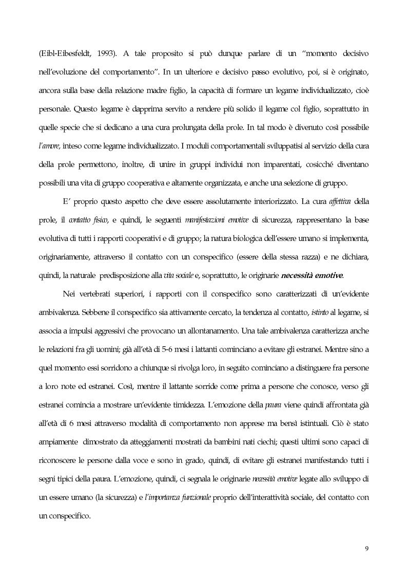 Anteprima della tesi: Interdipendenza emotiva: per una prospettiva cognitiva sulle emozioni, Pagina 7
