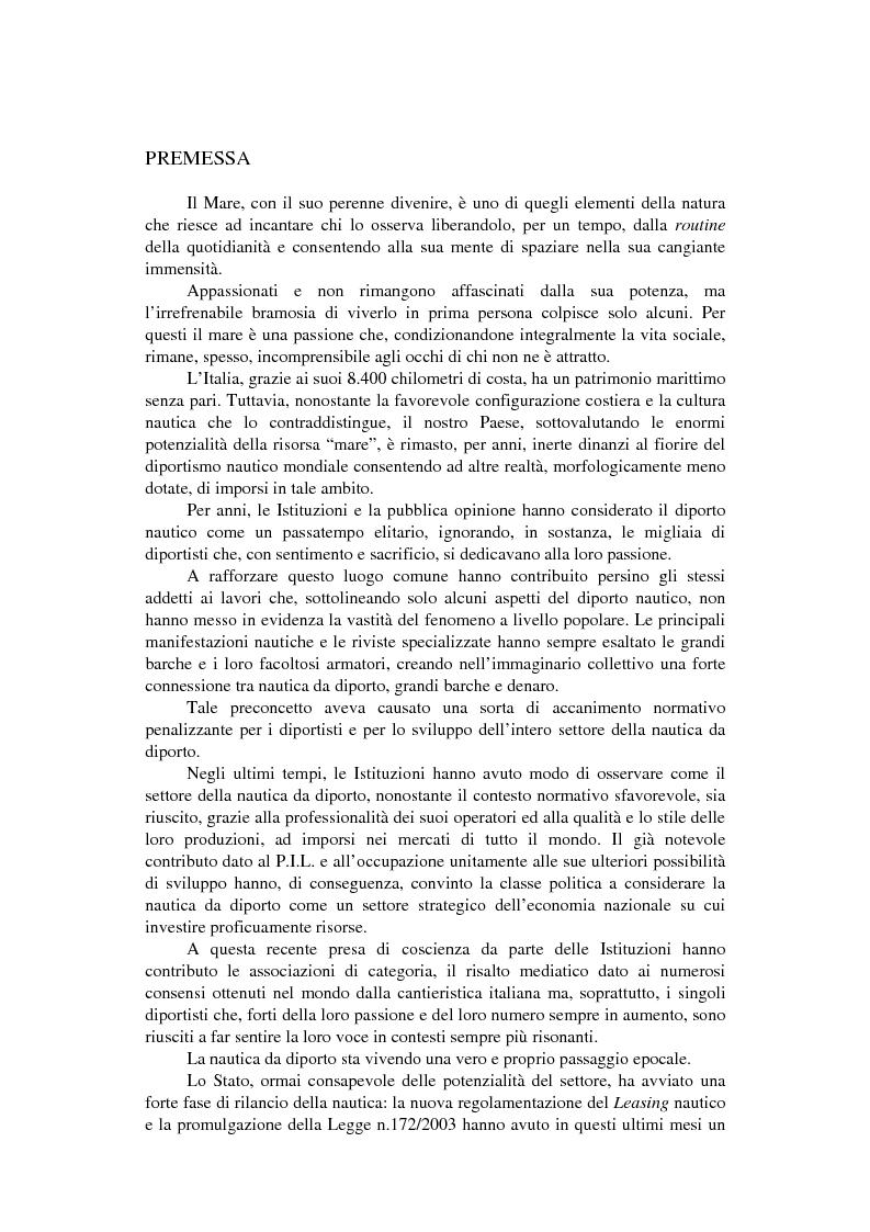 Anteprima della tesi: Strategie competitive nel settore della nautica da diporto. Il caso Rancraft, Pagina 1