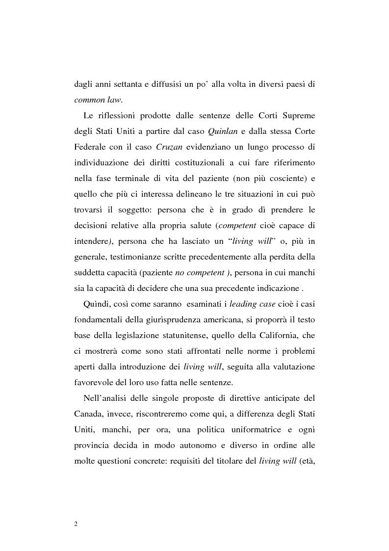 Anteprima della tesi: Le direttive anticipate di trattamento in ambito medico sanitario, Pagina 2
