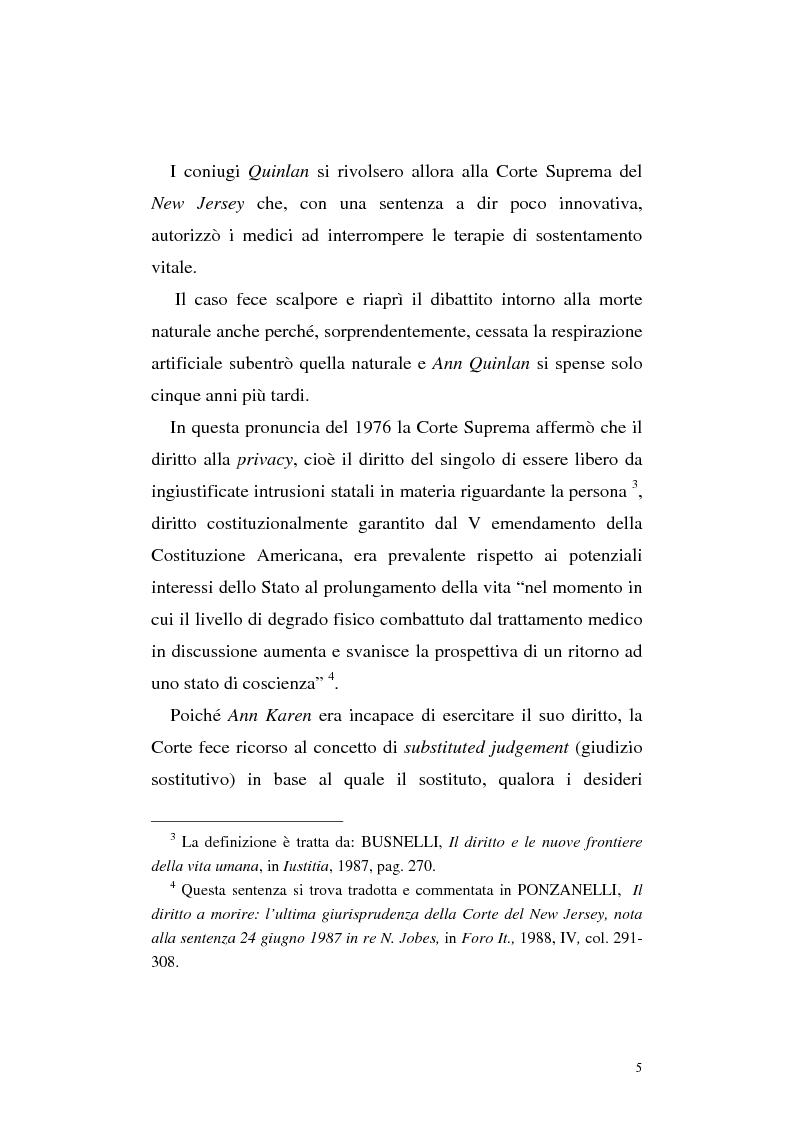 Anteprima della tesi: Le direttive anticipate di trattamento in ambito medico sanitario, Pagina 5