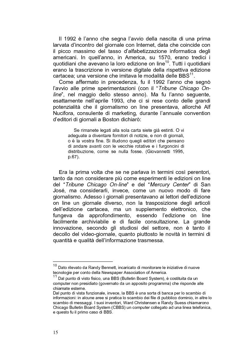 Anteprima della tesi: Giornalismo e nuovi linguaggi dei media: la forma blog, Pagina 12