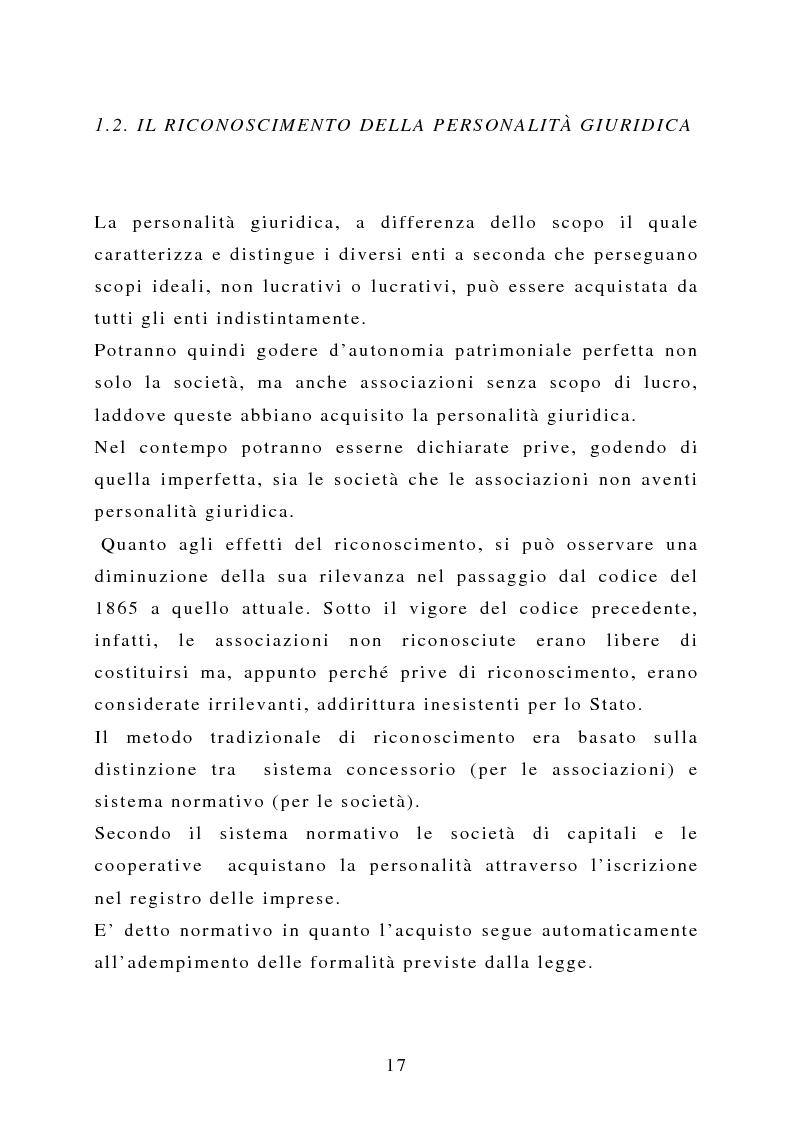 Anteprima della tesi: La capacità negoziale delle associazioni ''non profit'', Pagina 14