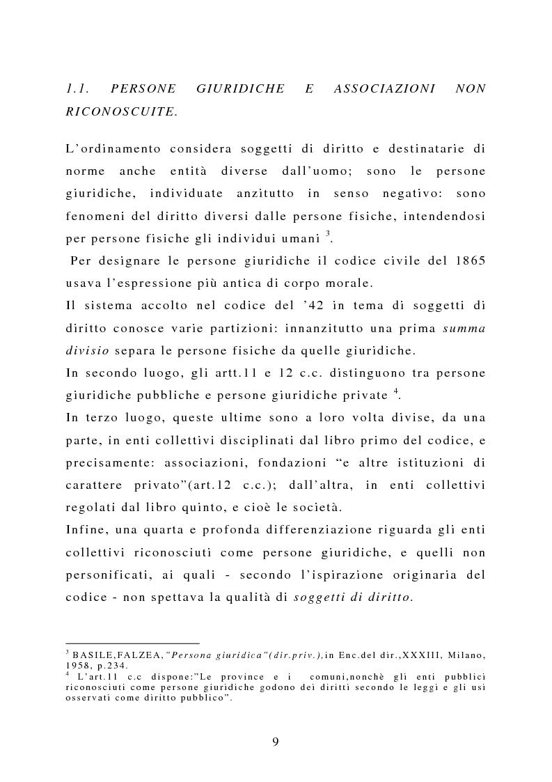 Anteprima della tesi: La capacità negoziale delle associazioni ''non profit'', Pagina 6