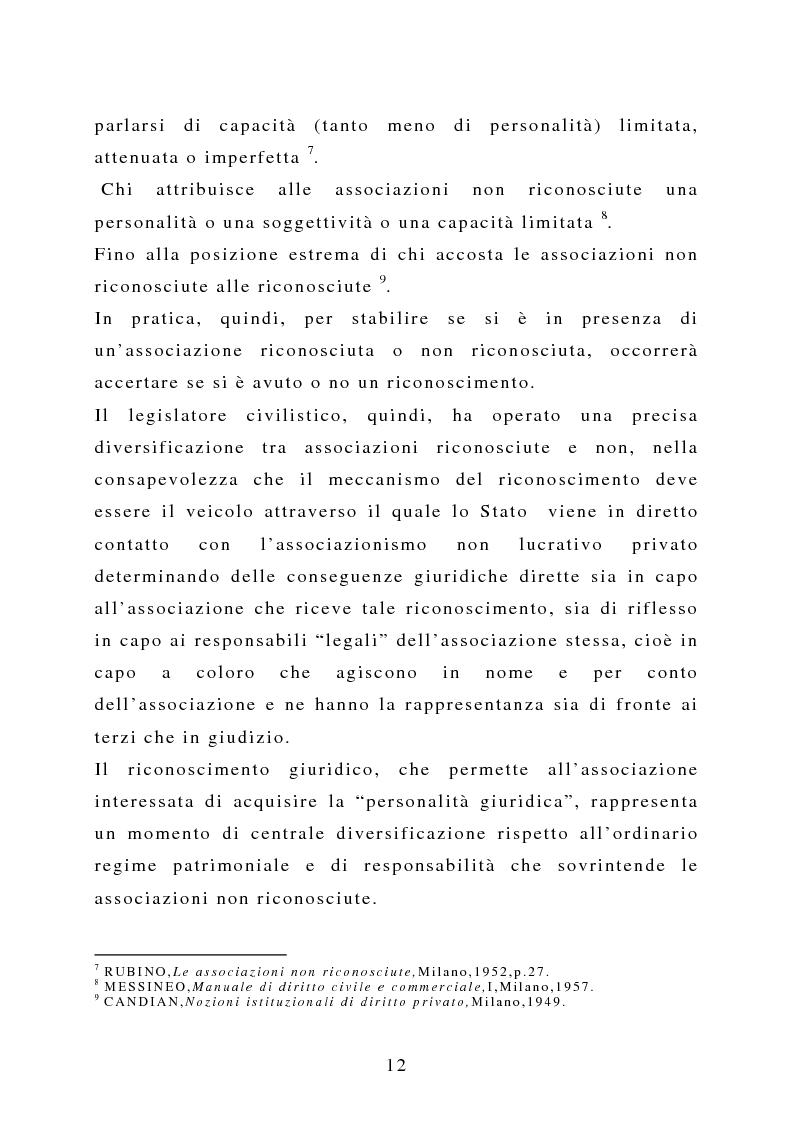 Anteprima della tesi: La capacità negoziale delle associazioni ''non profit'', Pagina 9
