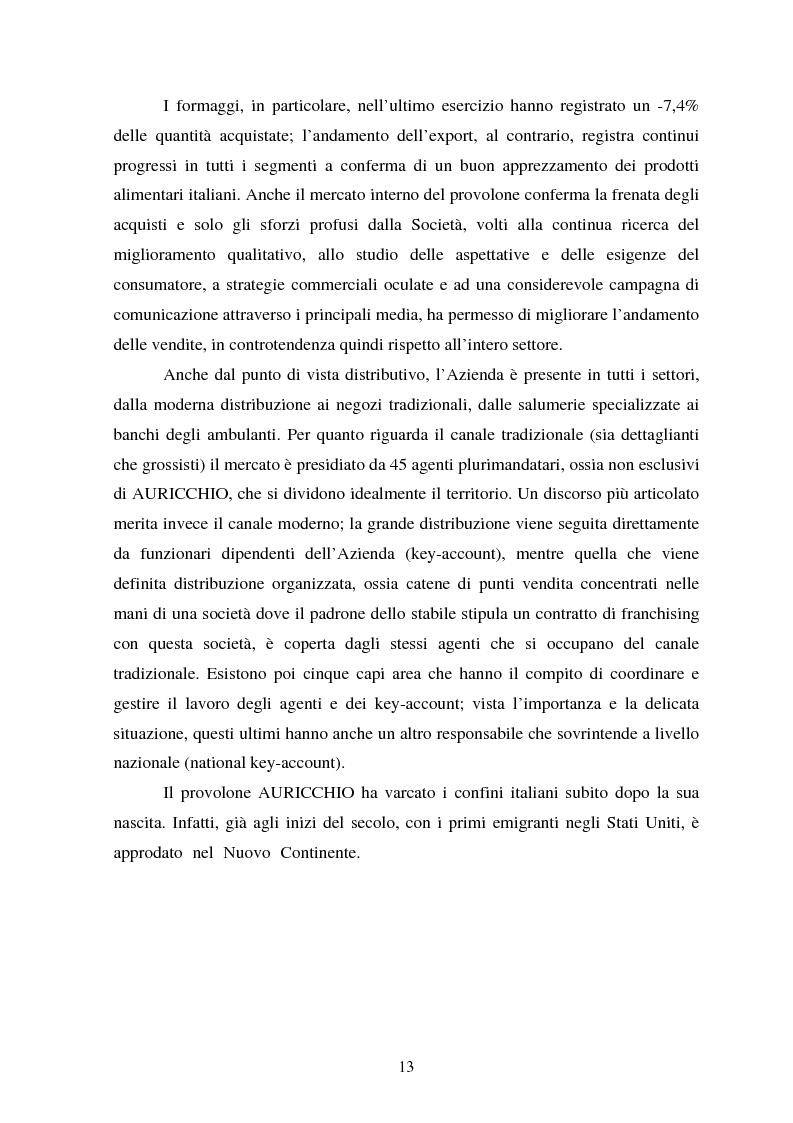 Anteprima della tesi: Le strategie competitive nel settore lattiero caseario. Il caso Auricchio, Pagina 10