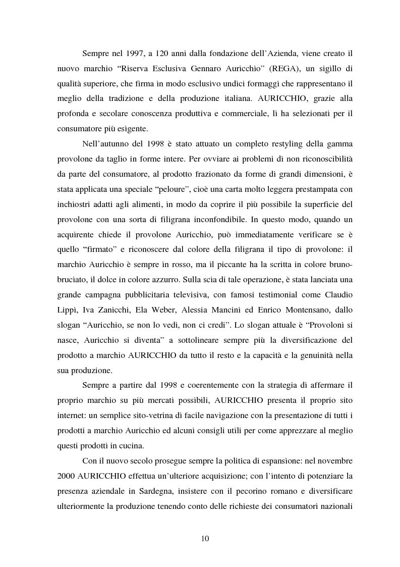 Anteprima della tesi: Le strategie competitive nel settore lattiero caseario. Il caso Auricchio, Pagina 7