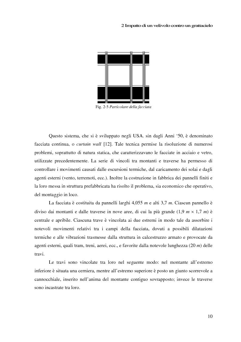 Anteprima della tesi: Impatto di un velivolo contro un grattacielo: considerazioni strutturali preliminari, Pagina 10