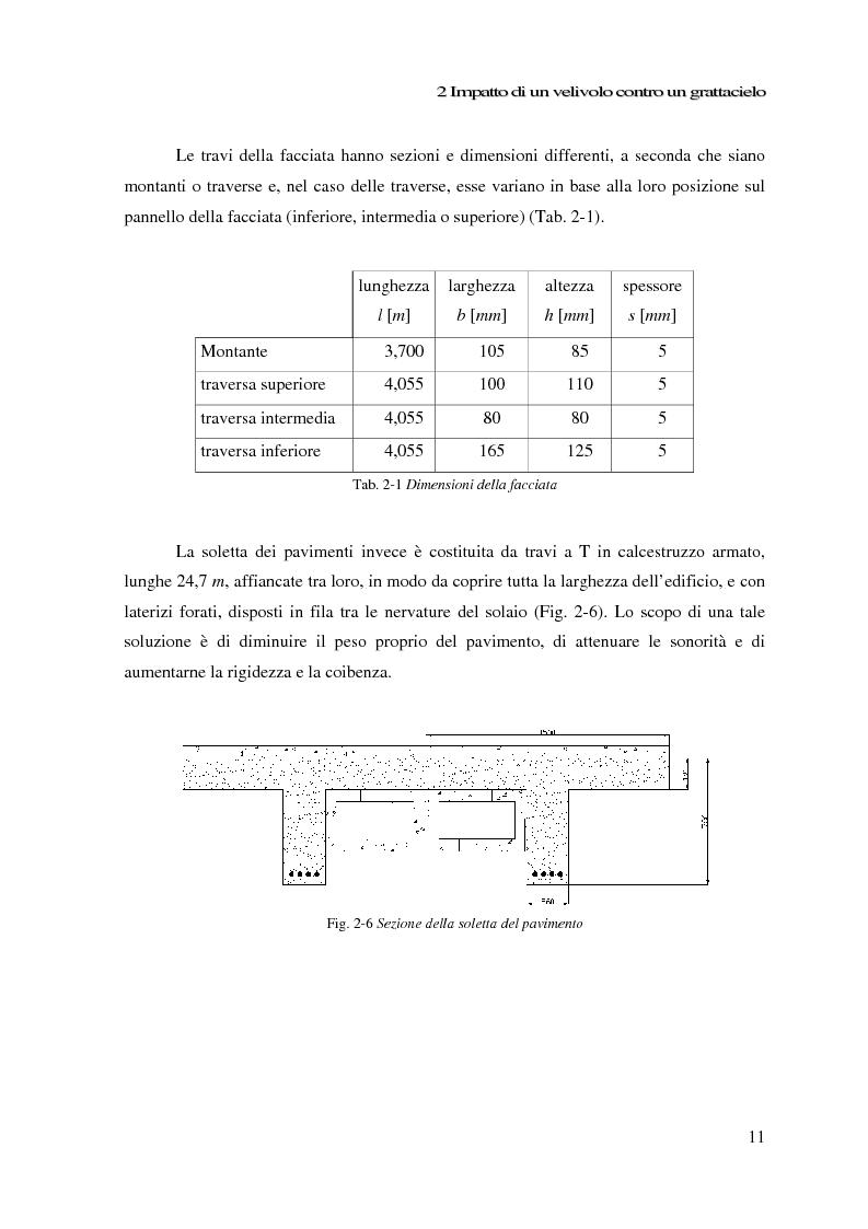 Anteprima della tesi: Impatto di un velivolo contro un grattacielo: considerazioni strutturali preliminari, Pagina 11