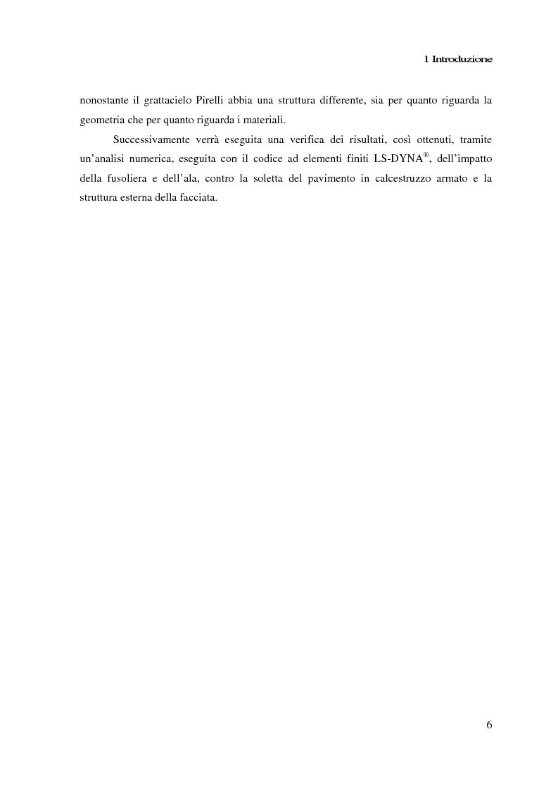 Anteprima della tesi: Impatto di un velivolo contro un grattacielo: considerazioni strutturali preliminari, Pagina 6