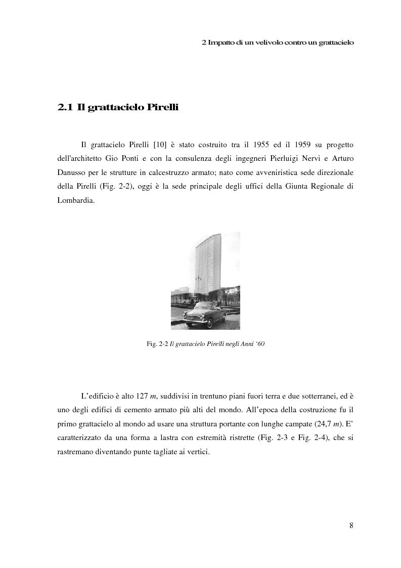 Anteprima della tesi: Impatto di un velivolo contro un grattacielo: considerazioni strutturali preliminari, Pagina 8