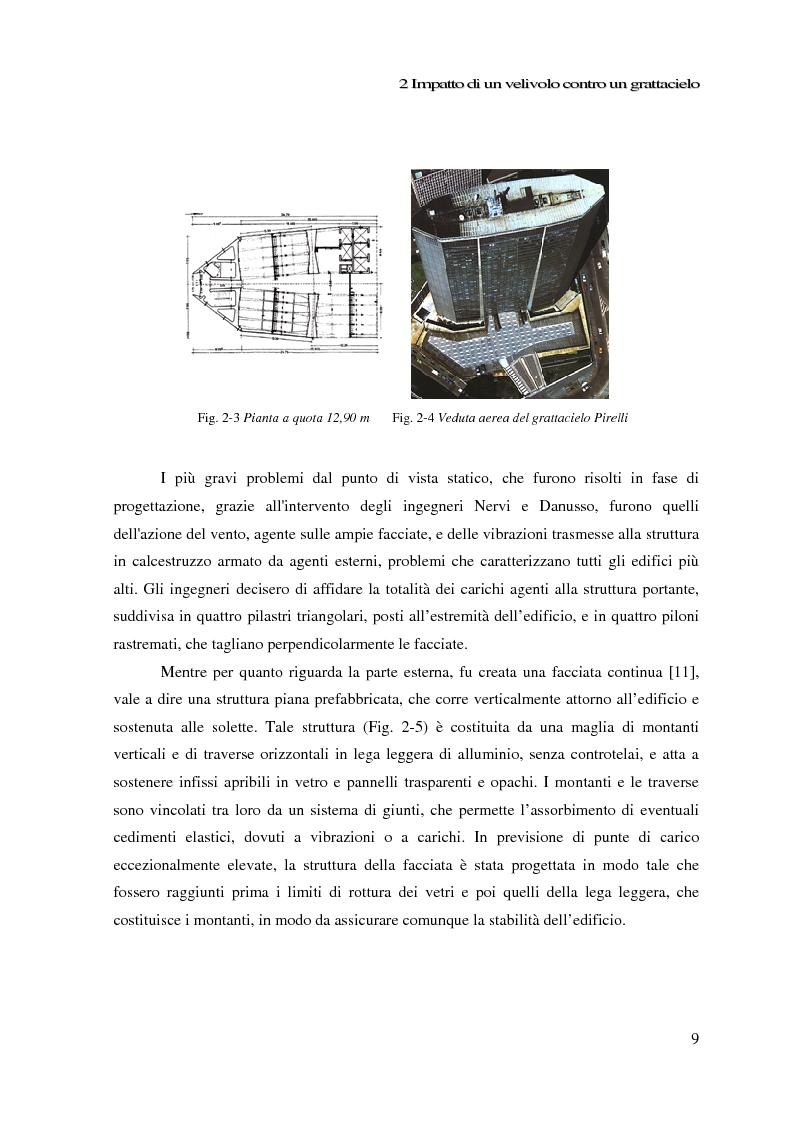 Anteprima della tesi: Impatto di un velivolo contro un grattacielo: considerazioni strutturali preliminari, Pagina 9