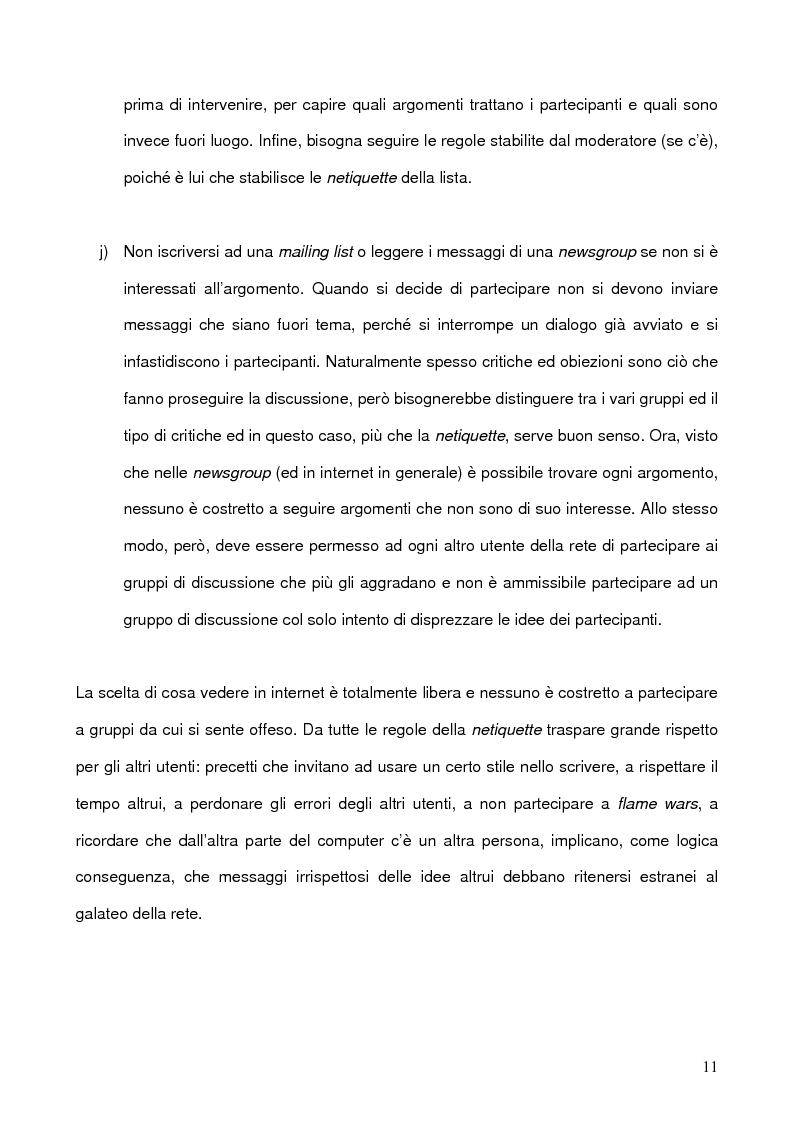 Anteprima della tesi: La libertà di manifestazione del pensiero in rete con particolare riferimento all'esperienza Nord Americana, Pagina 11