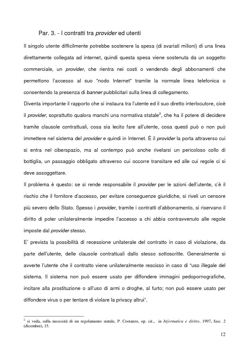 Anteprima della tesi: La libertà di manifestazione del pensiero in rete con particolare riferimento all'esperienza Nord Americana, Pagina 12