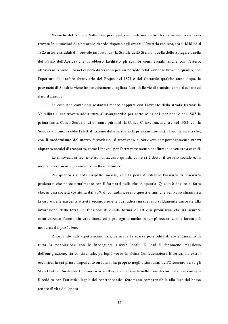 Anteprima della tesi: L'emigrazione ed il frontalierato in provincia di Sondrio, Pagina 13