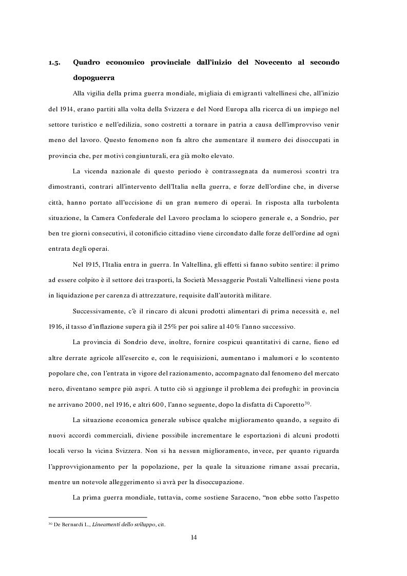 Anteprima della tesi: L'emigrazione ed il frontalierato in provincia di Sondrio, Pagina 14