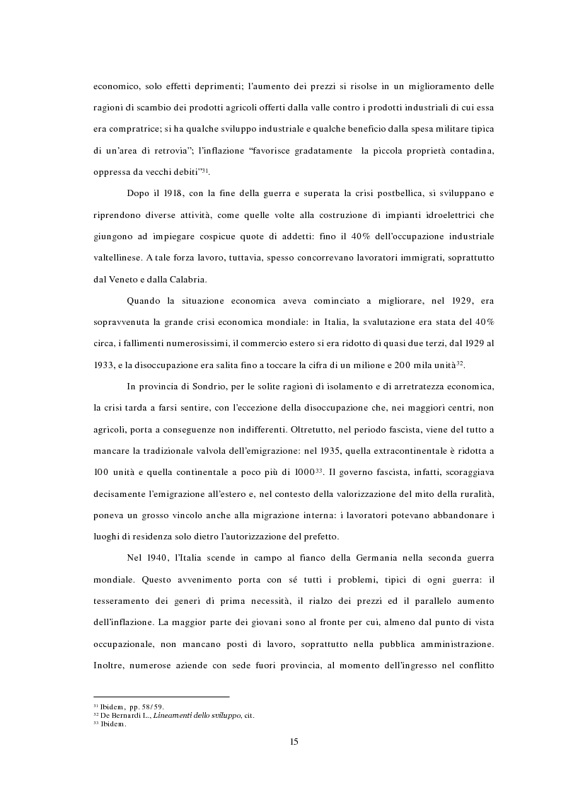 Anteprima della tesi: L'emigrazione ed il frontalierato in provincia di Sondrio, Pagina 15