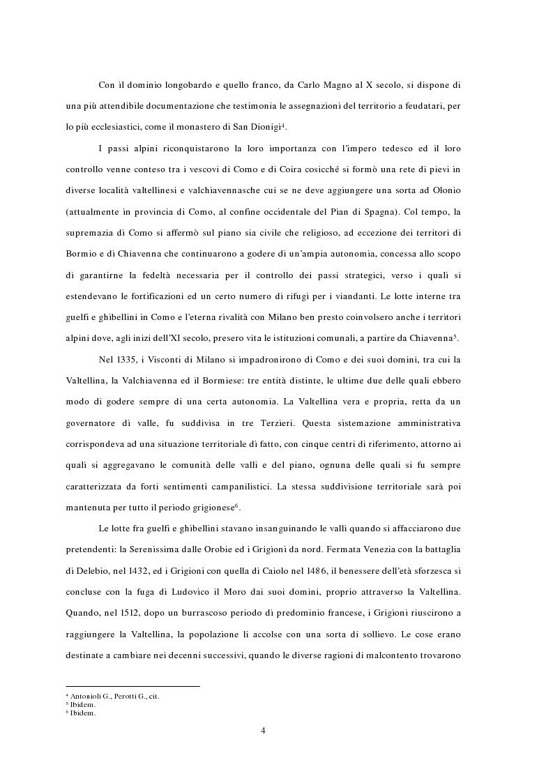 Anteprima della tesi: L'emigrazione ed il frontalierato in provincia di Sondrio, Pagina 4
