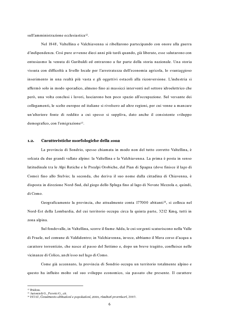 Anteprima della tesi: L'emigrazione ed il frontalierato in provincia di Sondrio, Pagina 6