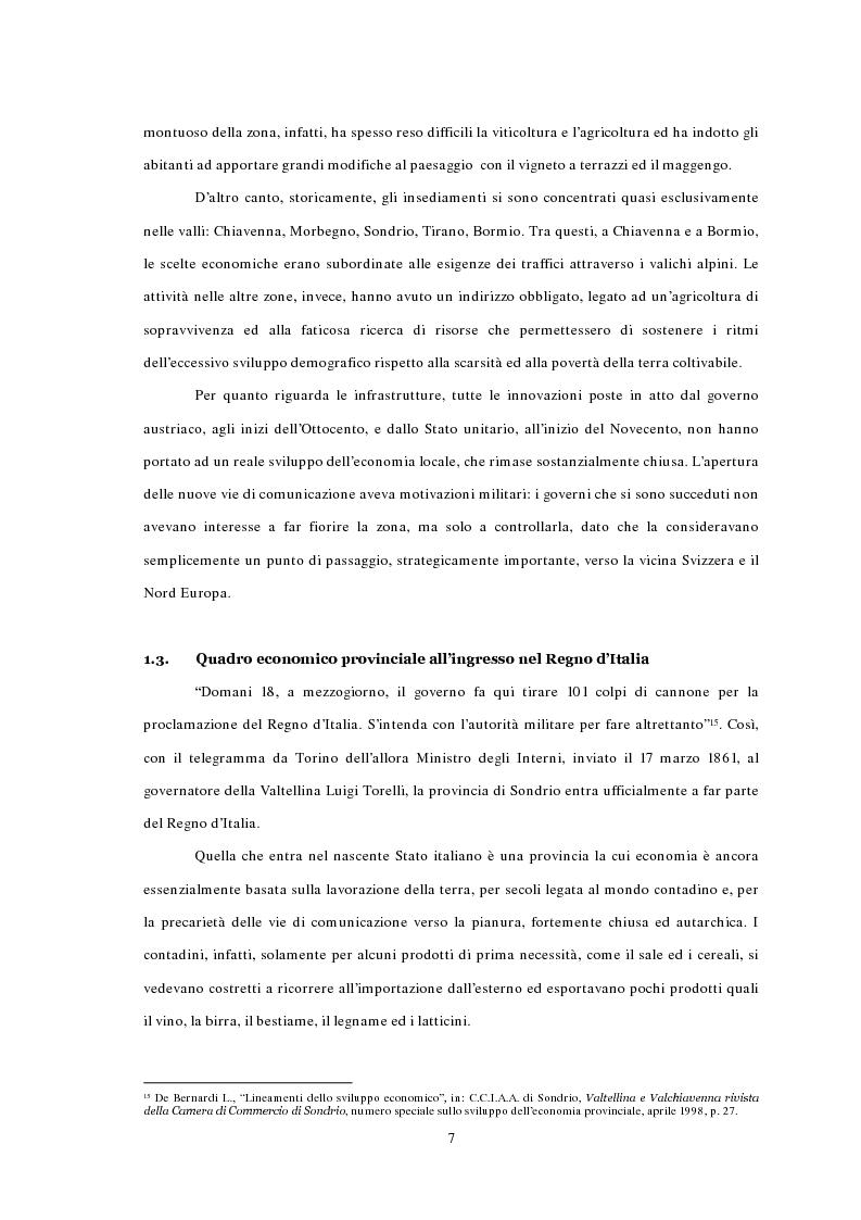 Anteprima della tesi: L'emigrazione ed il frontalierato in provincia di Sondrio, Pagina 7