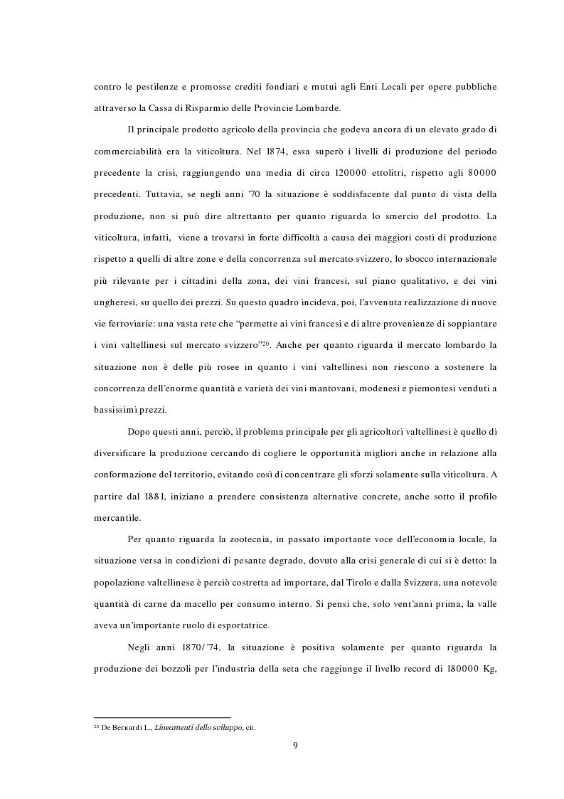 Anteprima della tesi: L'emigrazione ed il frontalierato in provincia di Sondrio, Pagina 9