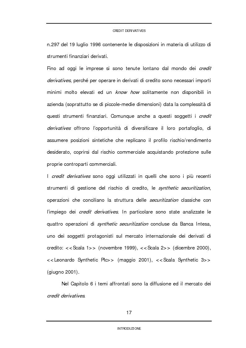Anteprima della tesi: Credit derivatives: tipologie, finalità di utilizzo e modalità di pricing, Pagina 14