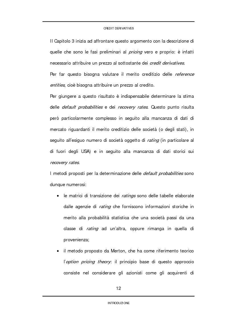 Anteprima della tesi: Credit derivatives: tipologie, finalità di utilizzo e modalità di pricing, Pagina 9