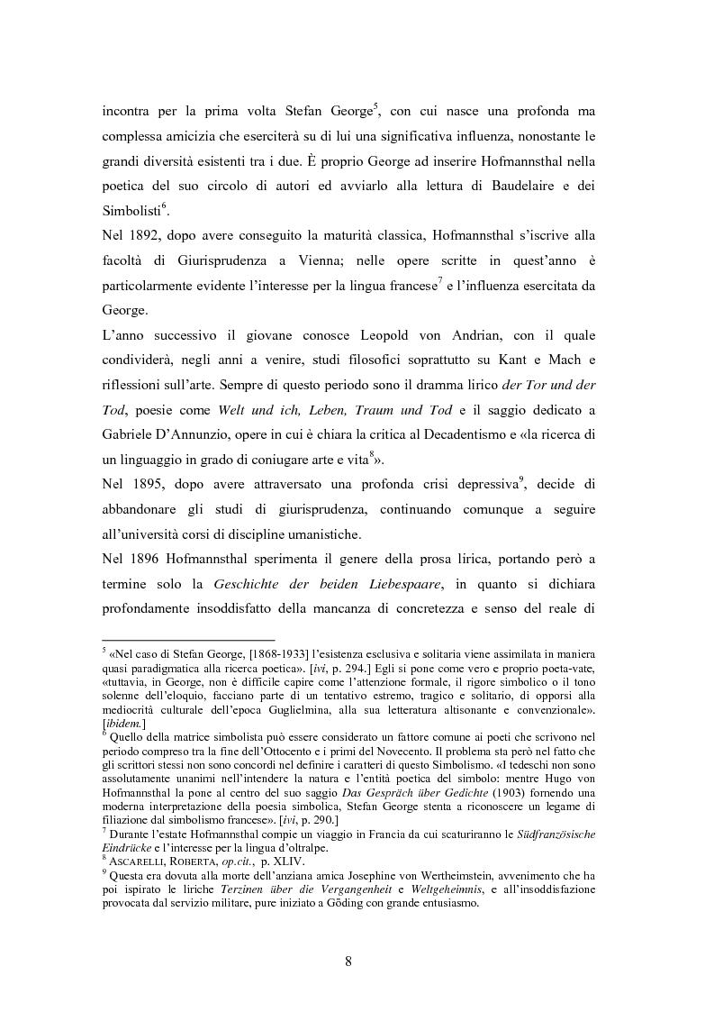 Anteprima della tesi: Ein Brief di Hugo von Hofmannsthal e le sue traduzioni italiane, Pagina 2