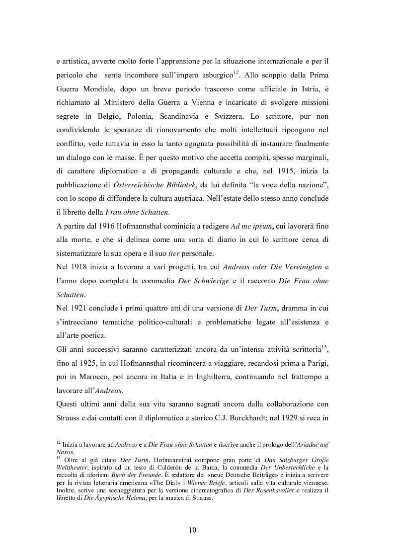 Anteprima della tesi: Ein Brief di Hugo von Hofmannsthal e le sue traduzioni italiane, Pagina 4