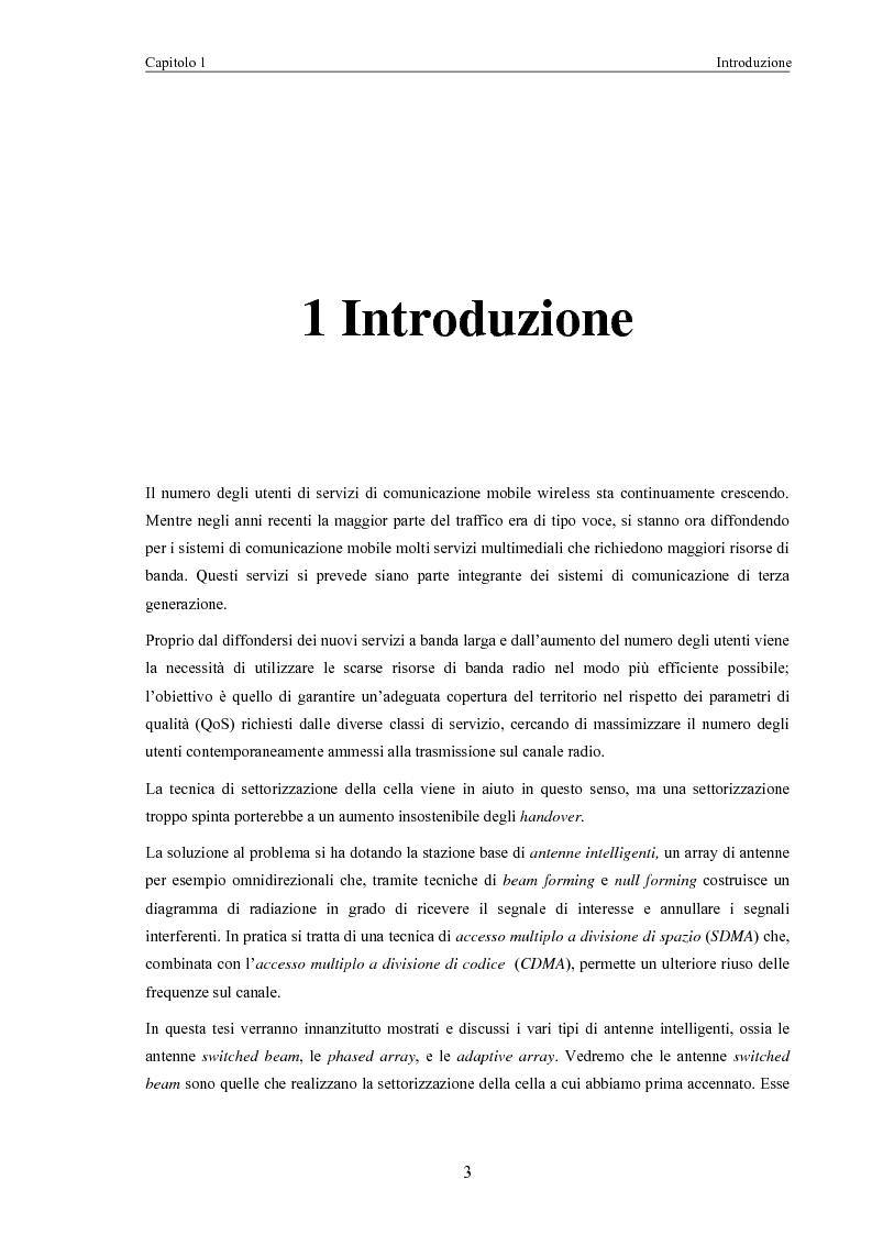 Anteprima della tesi: Algoritmi di scheduling per sistemi ad accesso radio con antenne intelligenti, Pagina 1