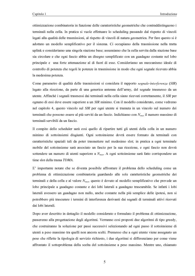 Anteprima della tesi: Algoritmi di scheduling per sistemi ad accesso radio con antenne intelligenti, Pagina 3