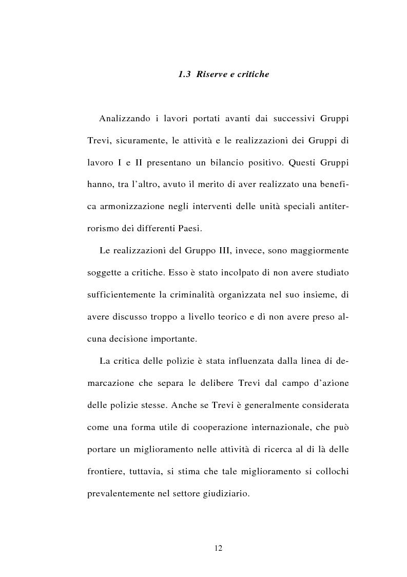 Anteprima della tesi: La cooperazione tra i servizi di polizia degli stati membri dell'Unione europea, Pagina 12