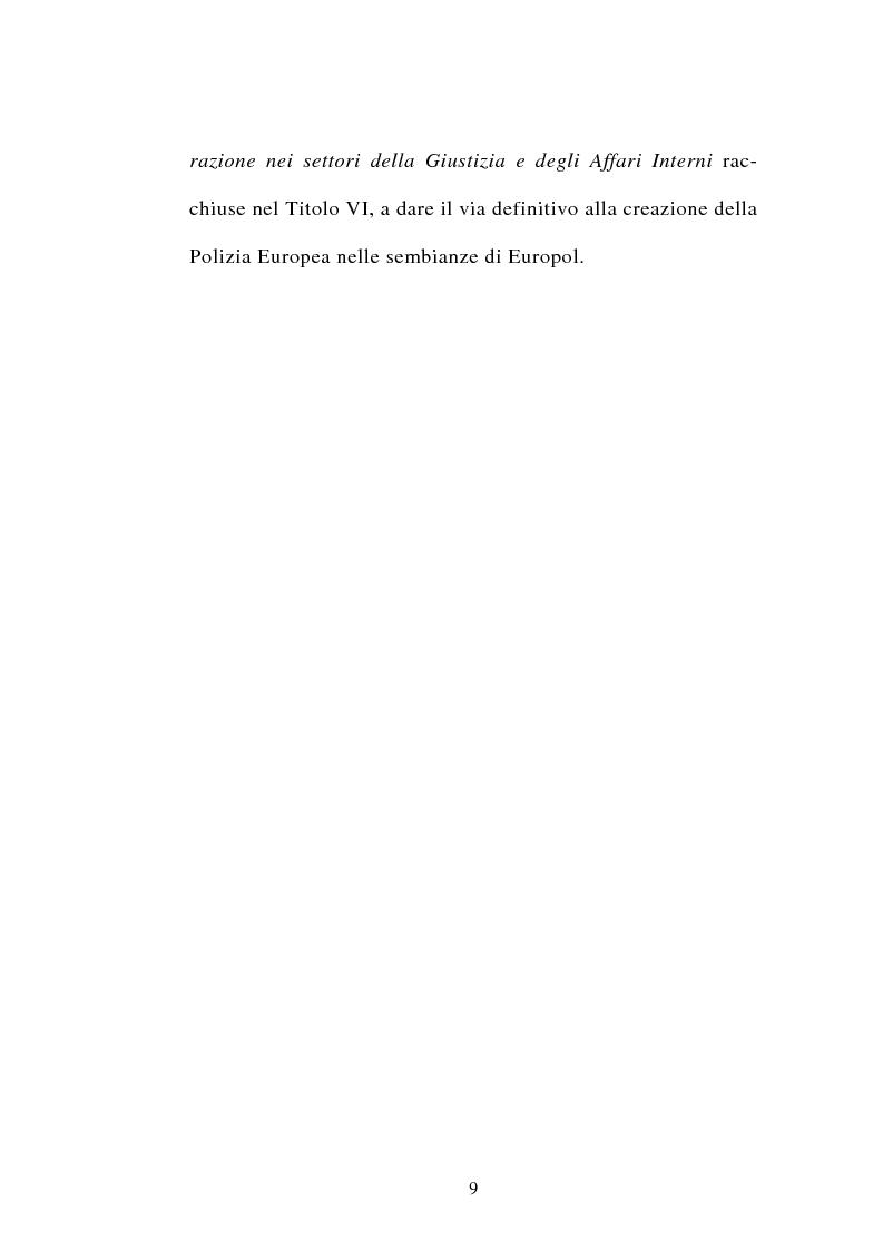 Anteprima della tesi: La cooperazione tra i servizi di polizia degli stati membri dell'Unione europea, Pagina 9