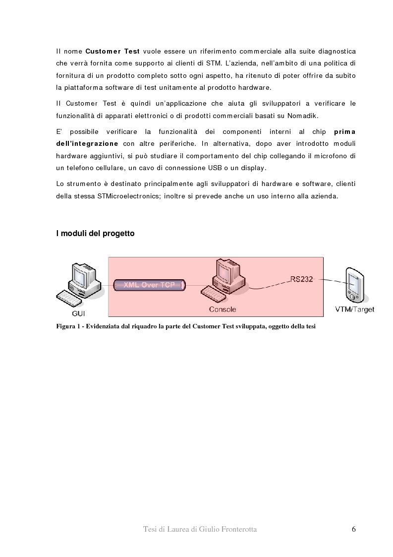 Anteprima della tesi: Realizzazione di piattaforma di test per system-on-chip - Utilizzo di Xml e tecnologia .Net per il controllo di dispositivi hardware, Pagina 2
