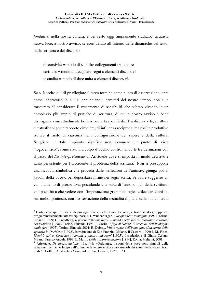 Anteprima della tesi: Neotecnologie e contemporaneità. Per una grammatica della testualità digitale, Pagina 4