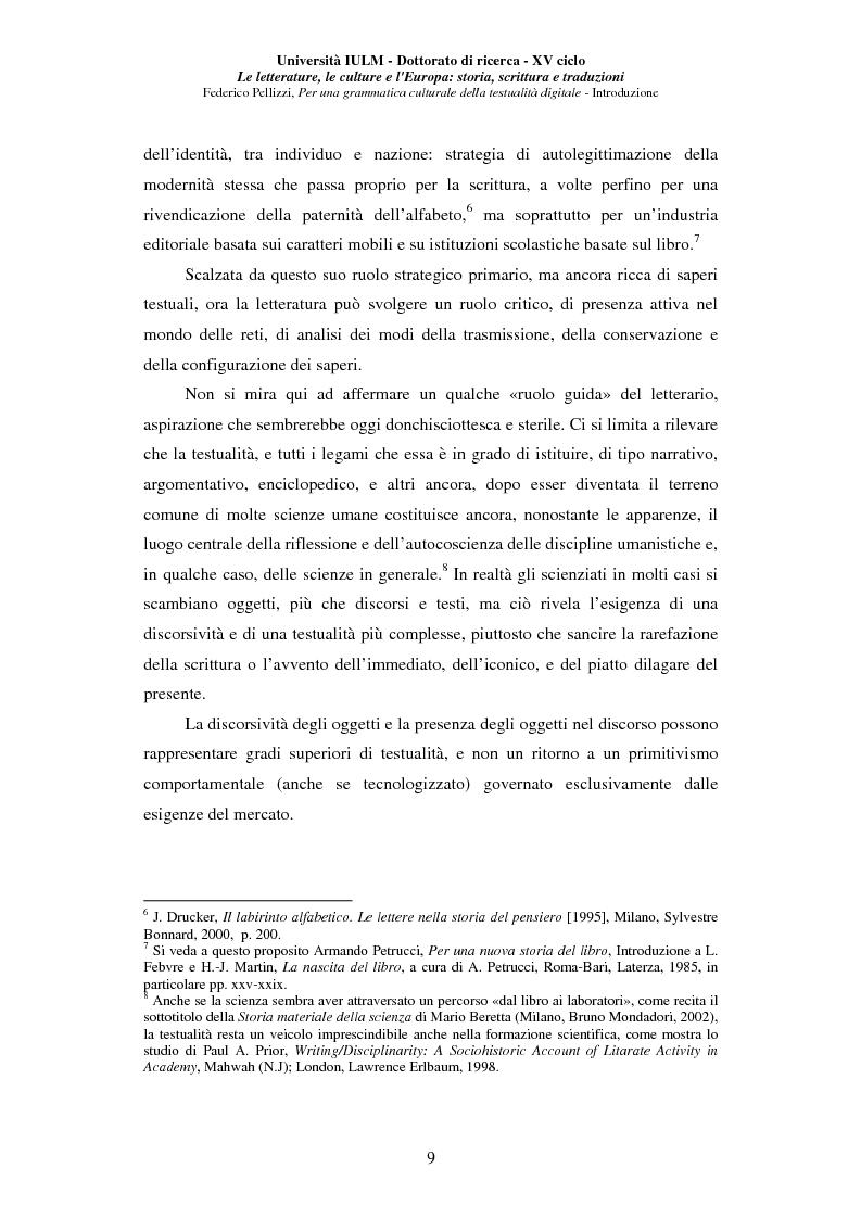 Anteprima della tesi: Neotecnologie e contemporaneità. Per una grammatica della testualità digitale, Pagina 6