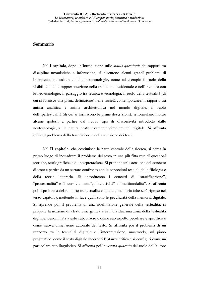 Anteprima della tesi: Neotecnologie e contemporaneità. Per una grammatica della testualità digitale, Pagina 8
