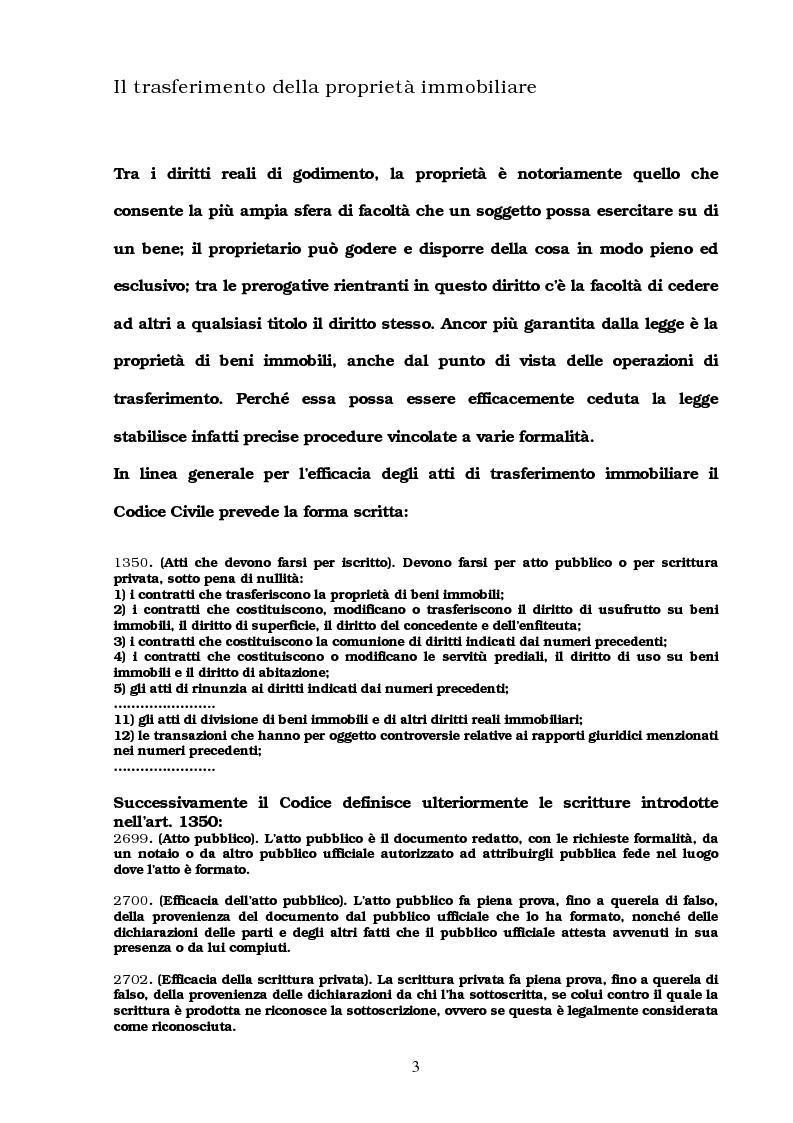 Anteprima della tesi: I trasferimenti immobiliari: aspetti fiscali, Pagina 1