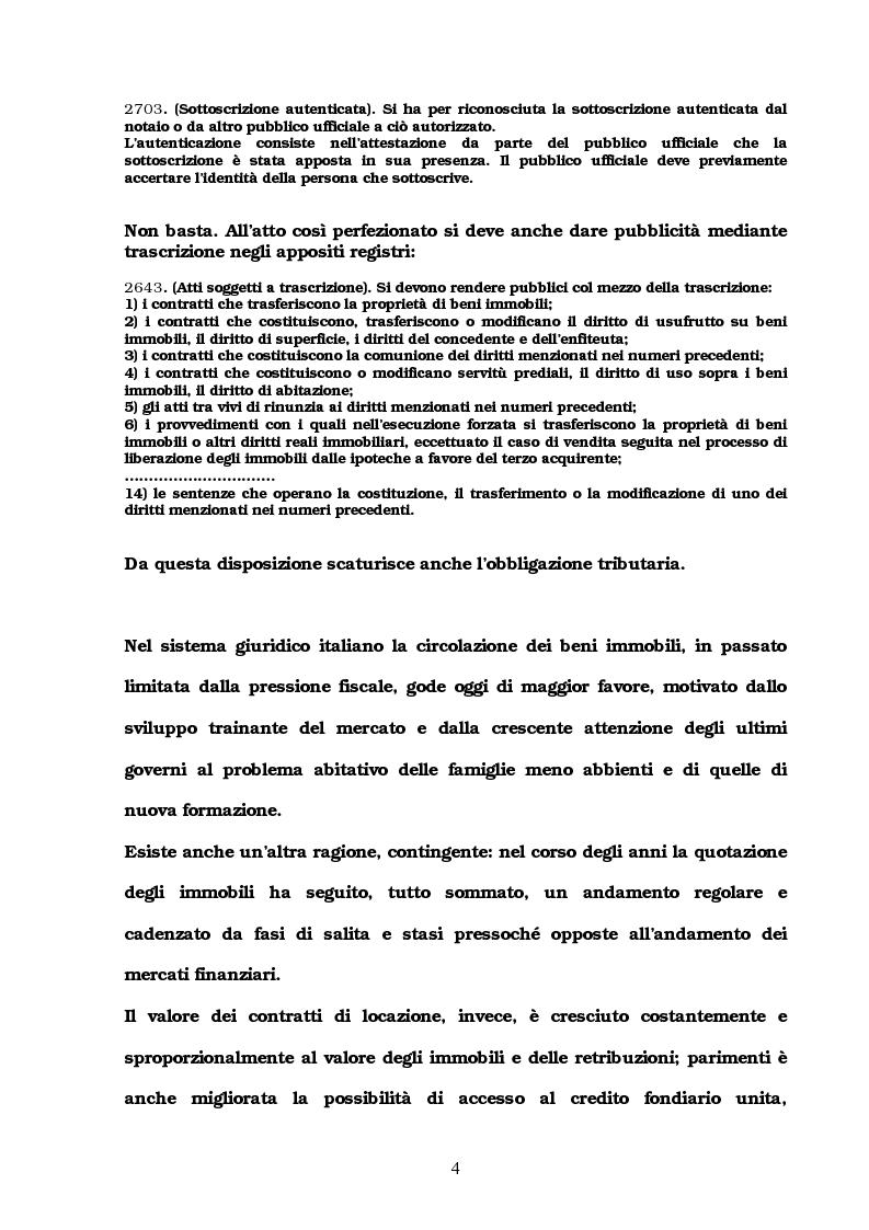 Anteprima della tesi: I trasferimenti immobiliari: aspetti fiscali, Pagina 2