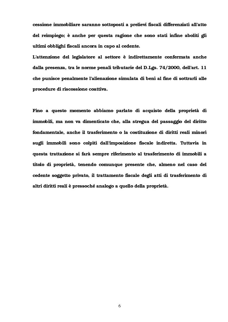 Anteprima della tesi: I trasferimenti immobiliari: aspetti fiscali, Pagina 4